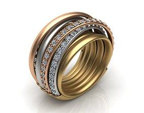 De GRISOGONO ring 3D print model rosegold
