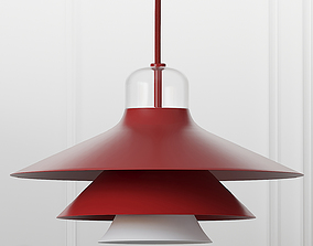 3D model Ikono Lamp Small EU Red and White