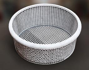 3D model Laundry Plastic Basket Multi-Colored