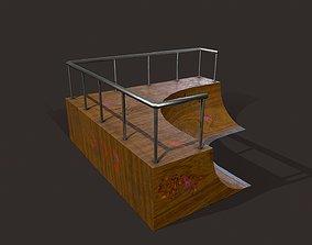 Skate ramp4 3D asset
