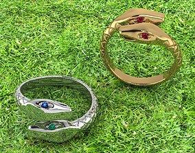 snakes snake ring 3D printable model