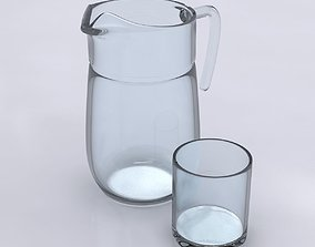 3D Pitcher and Glass
