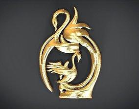 Unique Pendant with stylish decoration 3D printable model
