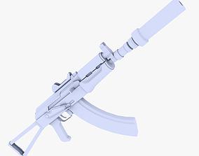 3D model AKS-74U Supressed