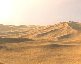 Desert Sand Dunes Landscape sanddunes 3D model