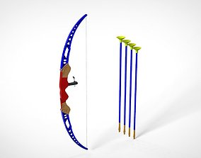 Toy Bow And Arrow Dart Playset 3D model