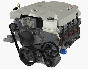Cadillac CTS-V 2005 LS2 V8 engine 3D model