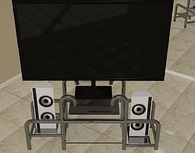 3D model Home entertainment system with stand
