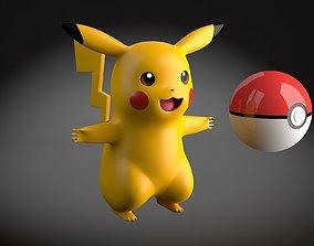 3D asset Pikachu Pokemon rigged