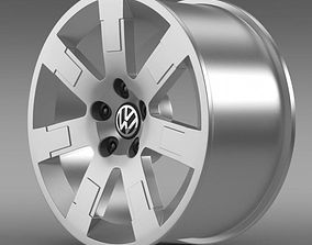 3D VW Polo Blue UK 2010 rim