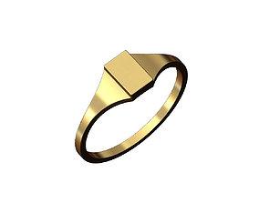 3D print model Engravable Rectangular signet ring