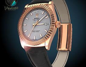 3D model Rolex Day Date Rose Gold