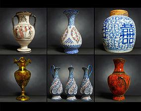 6 Vase Collection 3D asset