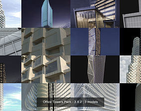 3D Office Towers Pack - 3 X 2