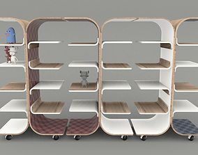 3D asset Bookcase Ton Ton