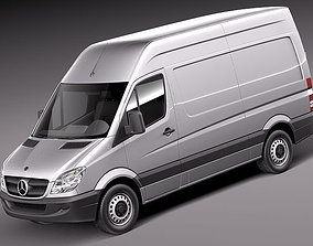 3D model Mercedes Sprinter II Van Short High