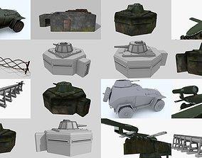 3D model WW II pack