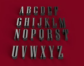 NIAGARA font uppercase and lowercase 3D letters STL