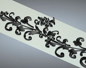 3D carved flower relief 1