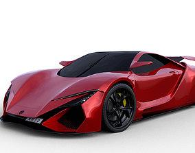 Concept 2 Super sport car 3D