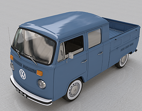 3D model wagon VOLKSWAGEN T2 PICKUP DOUBLE CAB 1974