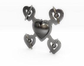 3D printable model Hearts Drone Pendant