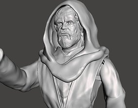 LAST JEDI INSPIRITED OLD LUKE ACTION FIGURE 3D print model
