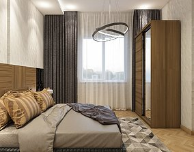 3D model Bedroom design cinema4d