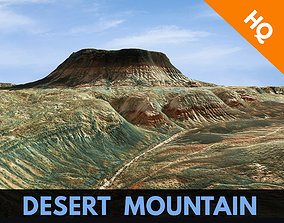 3D model Mountain Desert Terrain Landscape Environment PBR