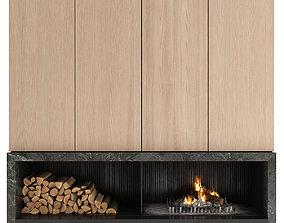 interior 3D model Fireplace