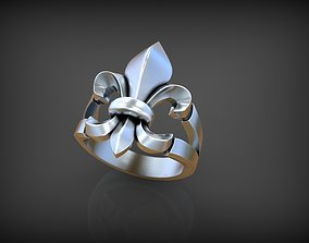 Ring Lily 3D print model lily