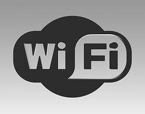 icon 3D model Wifi wireless internet logo