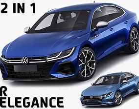 Volkswagen Arteon R and Elegance 2021 3D model