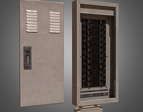 Electrical Fuse Box - PBR Game Ready 3D model