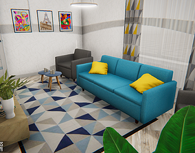 3D asset Apartment - modern interior