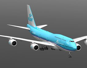 3D Boeing 747-8I KLM 747
