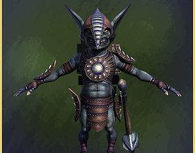 Goblin Warrior 3D asset
