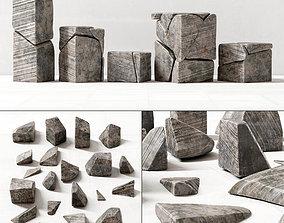 Stone splinters decor 3D model