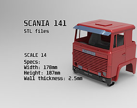 3D print model Custom Cab Scania 141 truck tamiya STL for