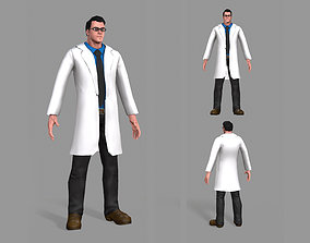 Doctor 3D asset game-ready