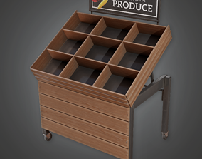 Commerical Stand 12 - SAM - PBR Game Ready 3D model