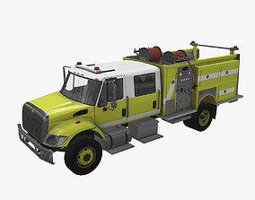 3D asset Fire Truck Yellow