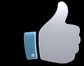 3D Hand symbol