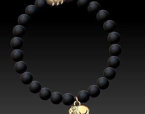 3D printable model beaded jewellery bracelet