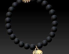 beaded jewellery bracelet 3D print model