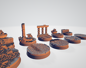 3D printable model Imperial Temple-Palace Bases and 6