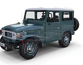 Toyota Land Cruiser FJ 40 with Interior and 3D model