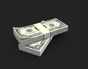 3D model Lowpoly Money pack
