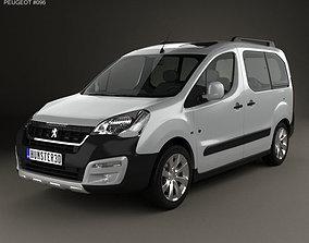 3D Peugeot Partner Tepee Outdoor 2015