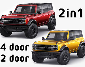 Bronco 2021 4-door and 2-door 3D